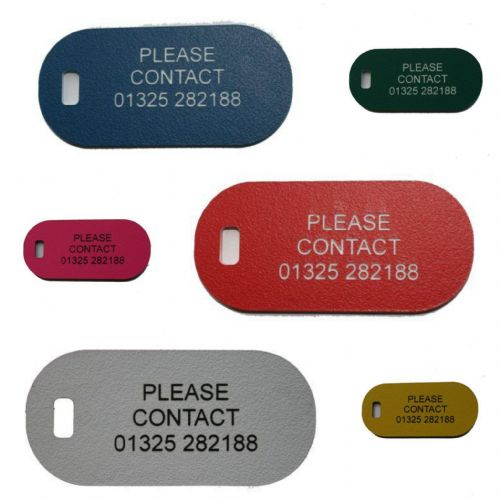 Acrylic Engraved Luggage tag 60 x 28mm
